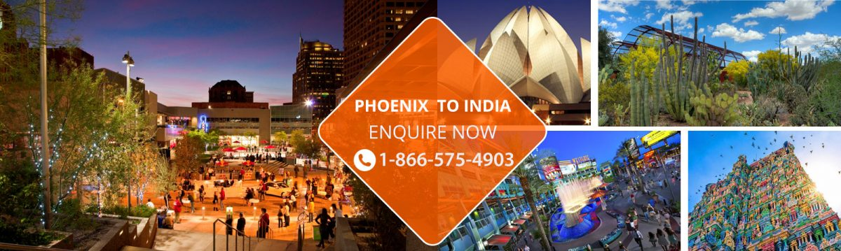 Top Flights from Phoenix to India